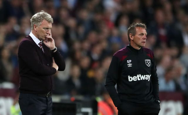Moyes and assistant Stuart Pearce left West Ham in May 2018