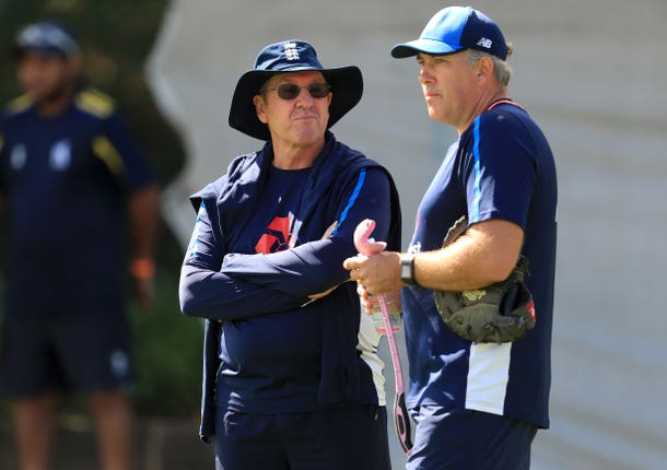 Chris Silverwood worked alongside former England head coach Trevor Bayliss (left).