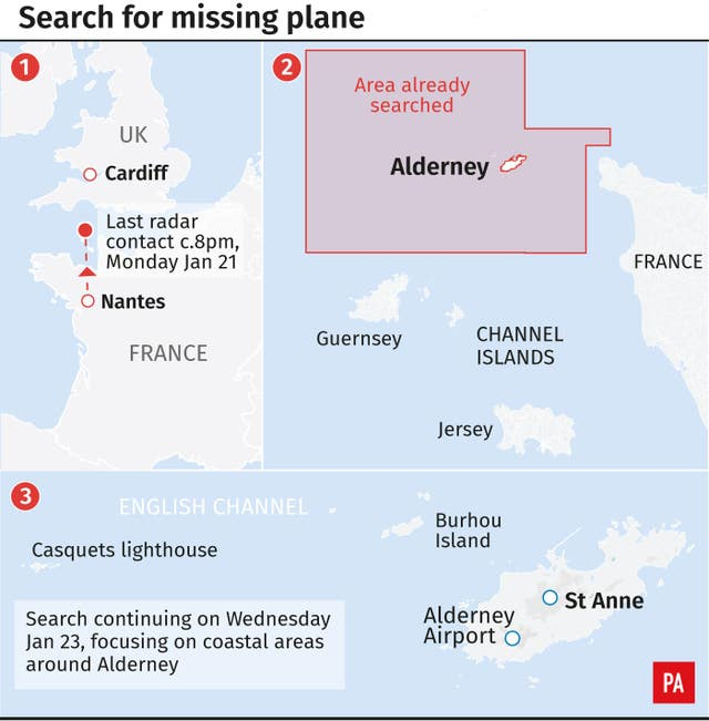 Search for missing plane