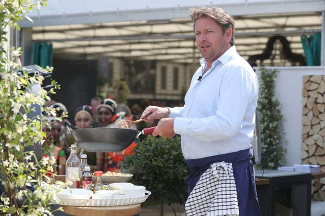 James Martin at the Chelsea Flower Show 2018