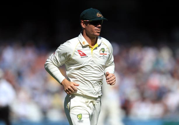 David Warner took four catches at slip for Australia