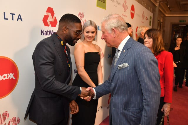 Charles compared notes on fatherhood with Tinie Tempah at the event