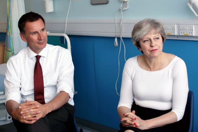 Theresa May and Jeremy Hunt (Christopher Furlong/PA)