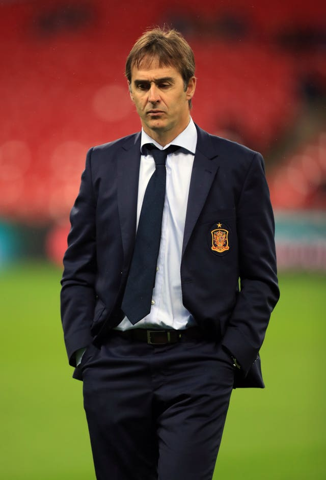 Julen Lopetegui was sacked by Spain on the eve of the World Cup