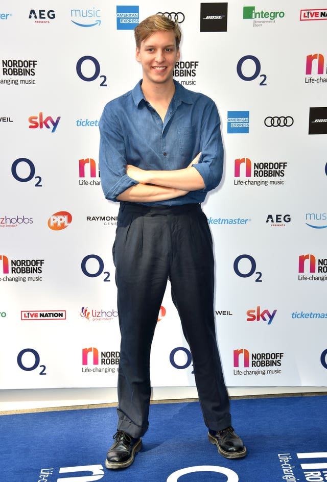 George Ezra  on the red carpet