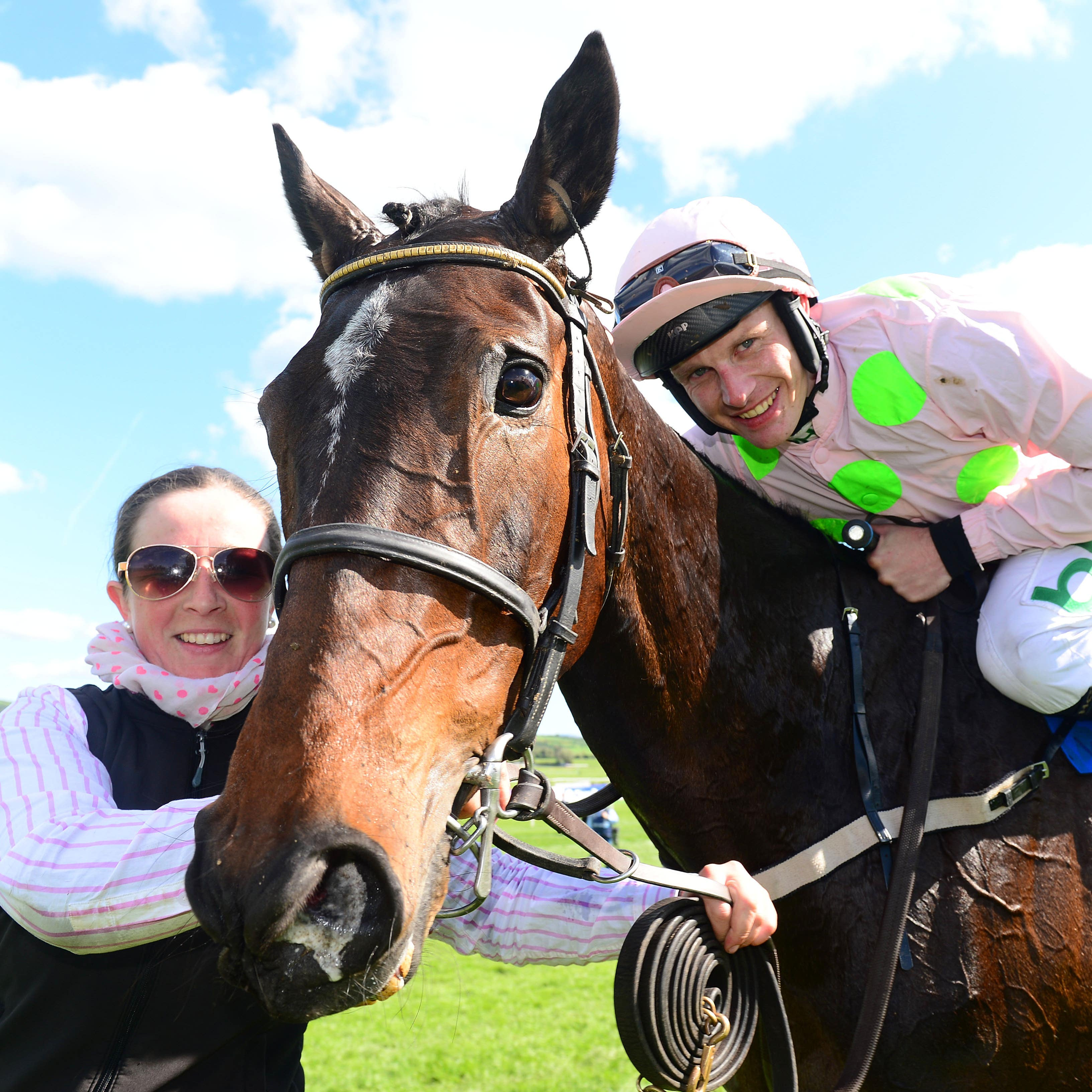 Benie Des Dieux and Paul Townend after winning at Punchestown
