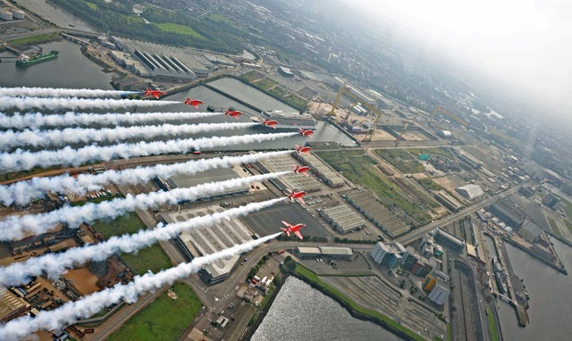 A Red Arrows flypast