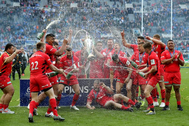Saracens also won the Champions Cup Final earlier this month
