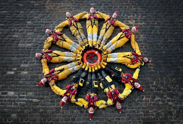 Anstruther RNLI Christmas practice drills