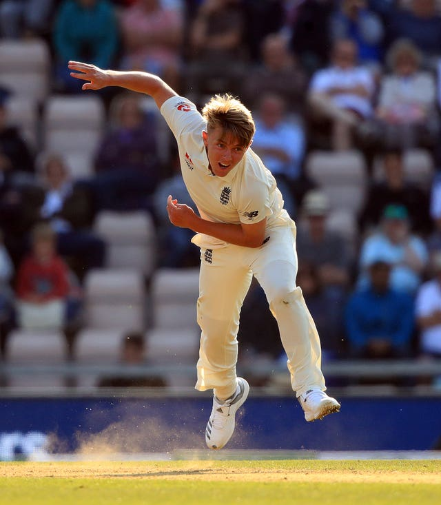 Sam Curran weighed in with the wicket of Mackram on the opening day of England's first Test against South Africa in Centurion.