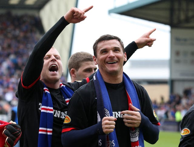 Naismith, left and Lee McCulloch enjoyed success with Rangers