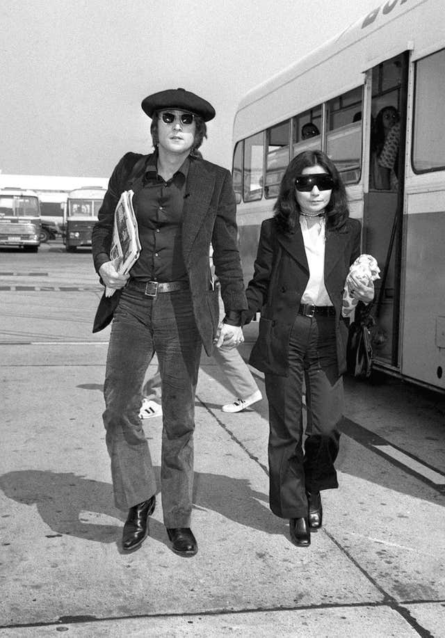 John Lennon and wife Yoko Ono