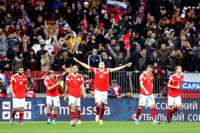 Russia scored four times without reply in the second half