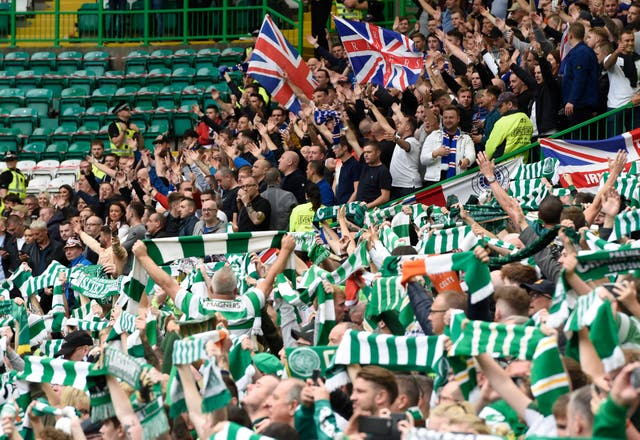 Celtic have been given just 800 tickets for the Ibrox clash (Ian Rutherford/PA)