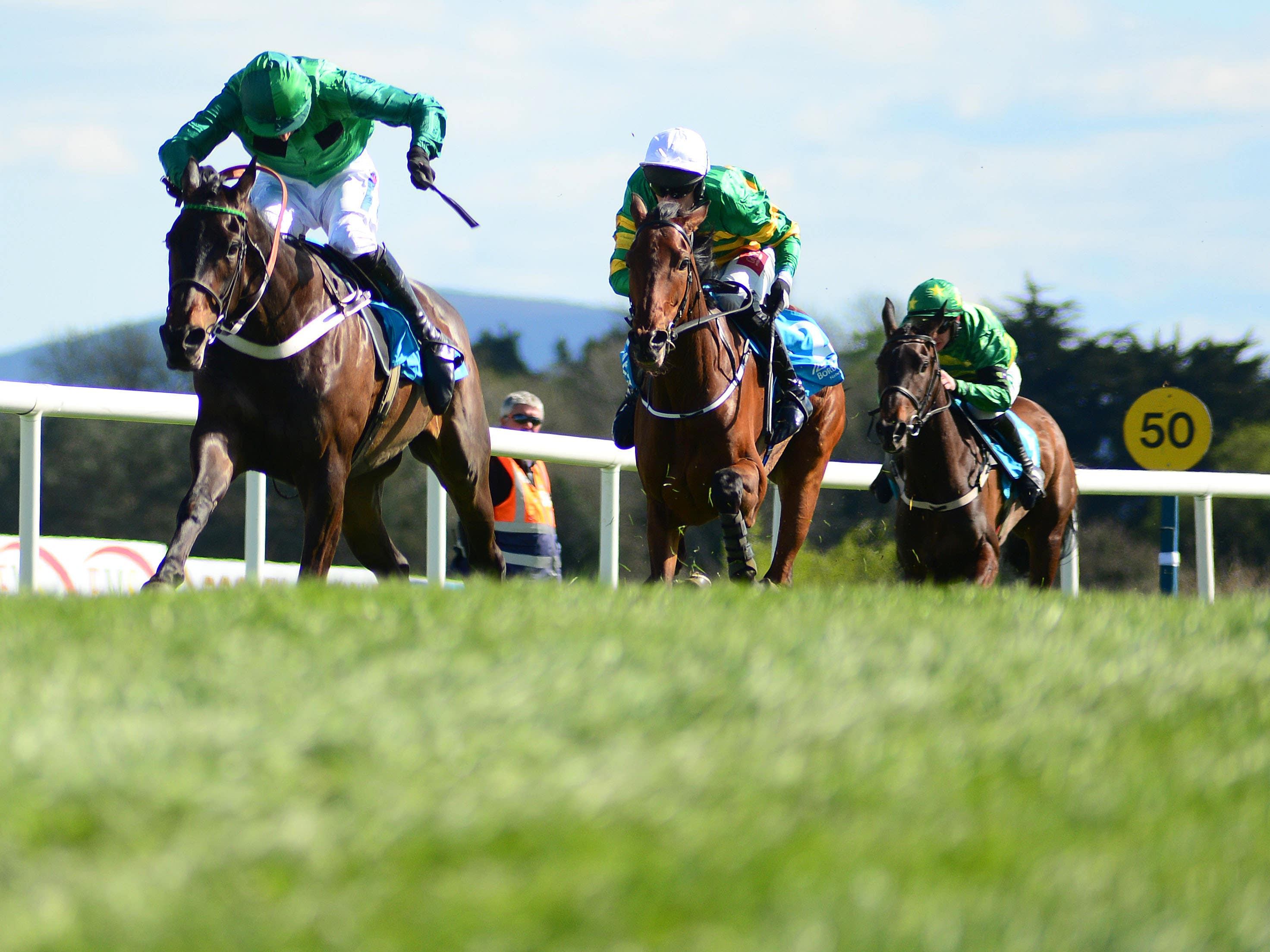 Action at Punchestown (PA)
