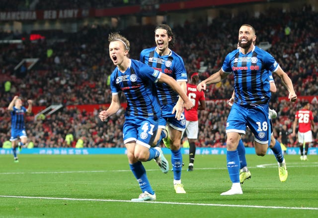 Luke Matheson scored against Manchester United in the Carabao Cup earlier this season