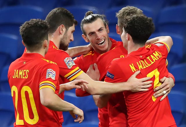 Bale, centre, has been getting some much needed minutes for Wales during the international break