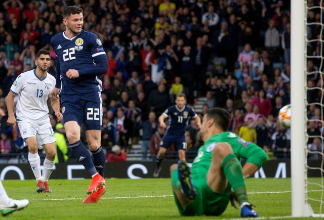 Oliver Burke's goal gave Scotland a winning start under Steve Clarke