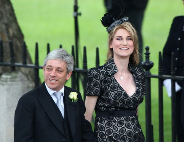 John Bercow and his wife Sally at Westminster Abbey for the wedding of Prince William and Kate Middleton