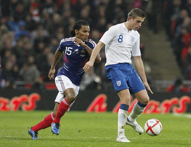 Jordan Henderson made his England debut against France in 2010