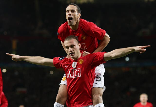 Nemanja Vidic and Rio Ferdinand formed a formidable partnership