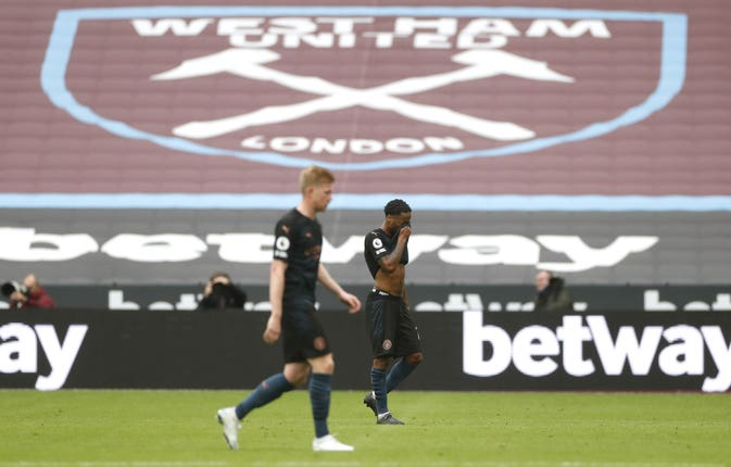 City had to settle for a 1-1 draw at West Ham on Saturday