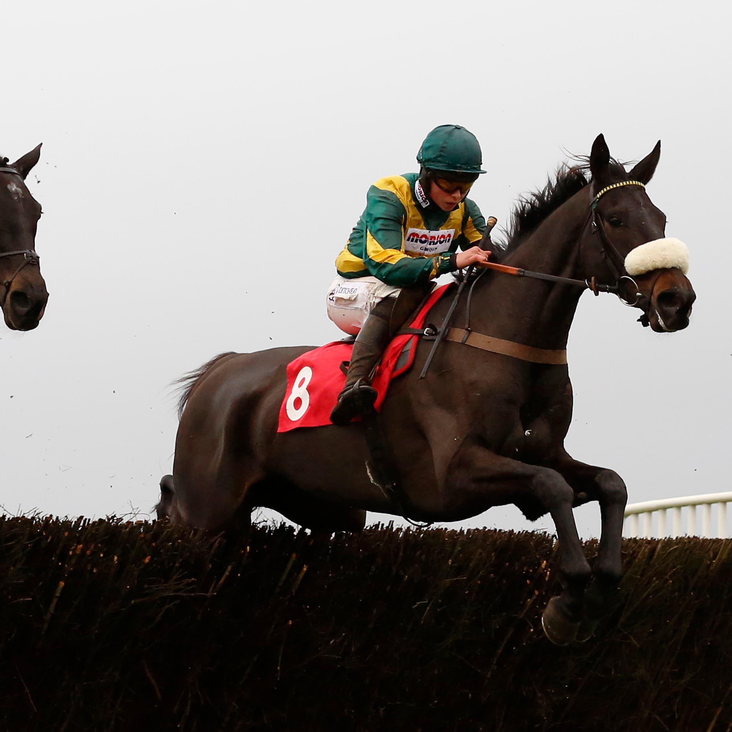Present Man (right) on his way to winning the Badger Ales Trophy at Wincanton last year