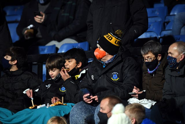 Cambridge fans attended the League Two match against Mansfield on Wednesday night