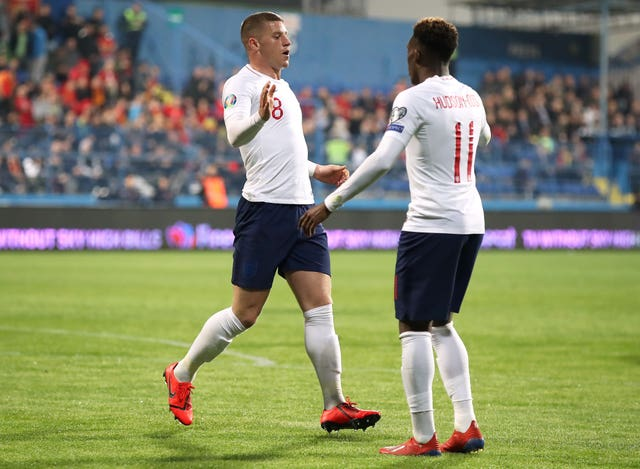 England's Ross Barkley (left) and Callum Hudson Odoi starred in the win