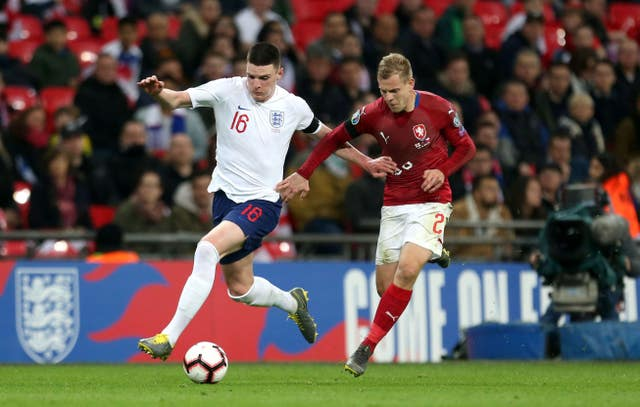 Declan Rice will be in contention to start against Montenegro after making his debut as a substitute on Friday