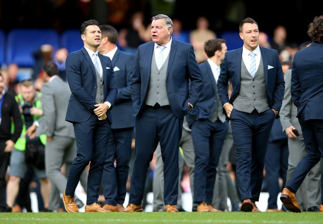 Sam Allardyce, centre, has described it as a pleasure to be involved in the Soccer Aid for Unicef charity match