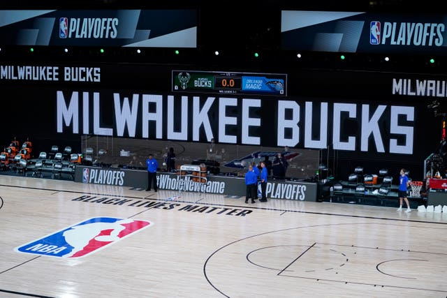 The Milwaukee Bucks did not take the floor in protest against racial injustice and the shooting of Jacob Blake