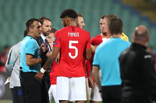 Tyrone Mings spoke with match officials about the racial abuse which marred England's Euro 2020 qualifier with Bulgaria
