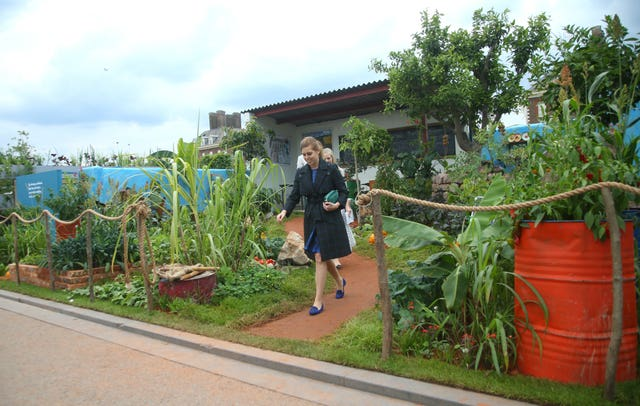 Princess Beatrice of York during her visit to the RHS Chelsea Flower Show