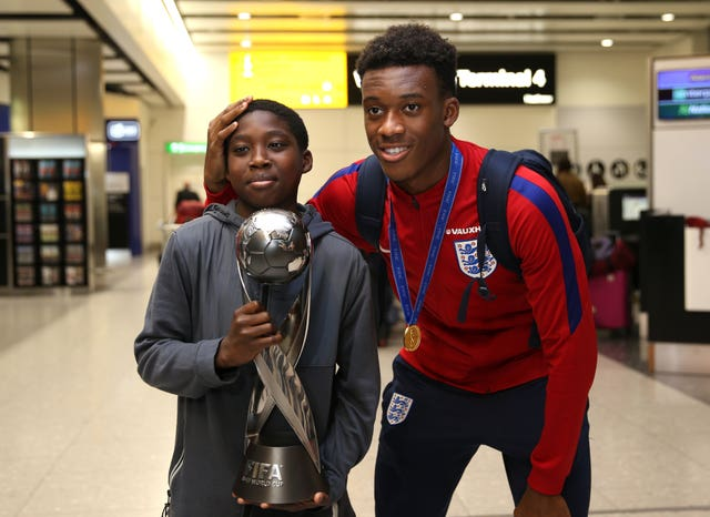 Callum Hudson-Odoi  was part of the England Under-17s squad that won the World Cup