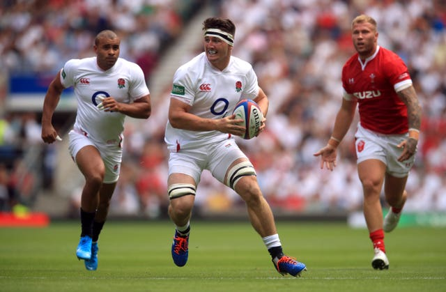 Tom Curry in action against Wales at Twickenham