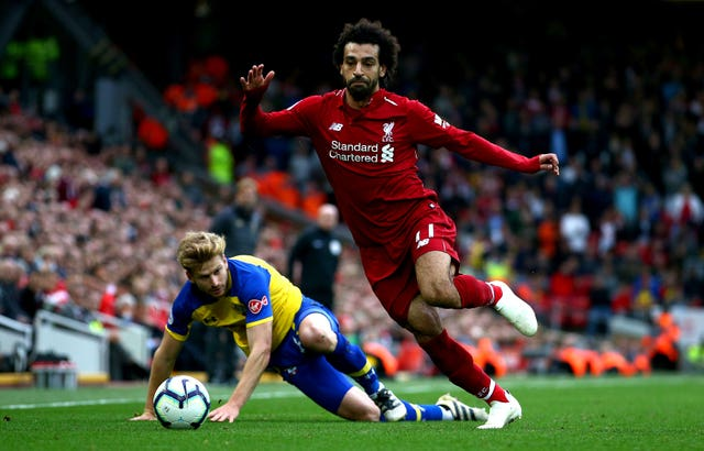 Mohamed Salah was one of three people to be nominated for the The Best FIFA Men's Player (Dave Thompson/PA)
