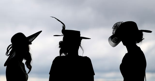 Racegoers at Royal Ascot (Brian Lawless/PA)