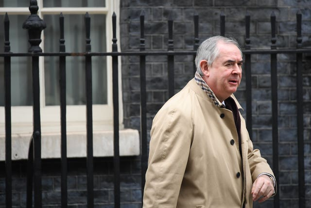 Attorney General Geoffrey Cox is heading back to Brussels for more talks on the Brexit backstop (Stefan Rousseau/PA)