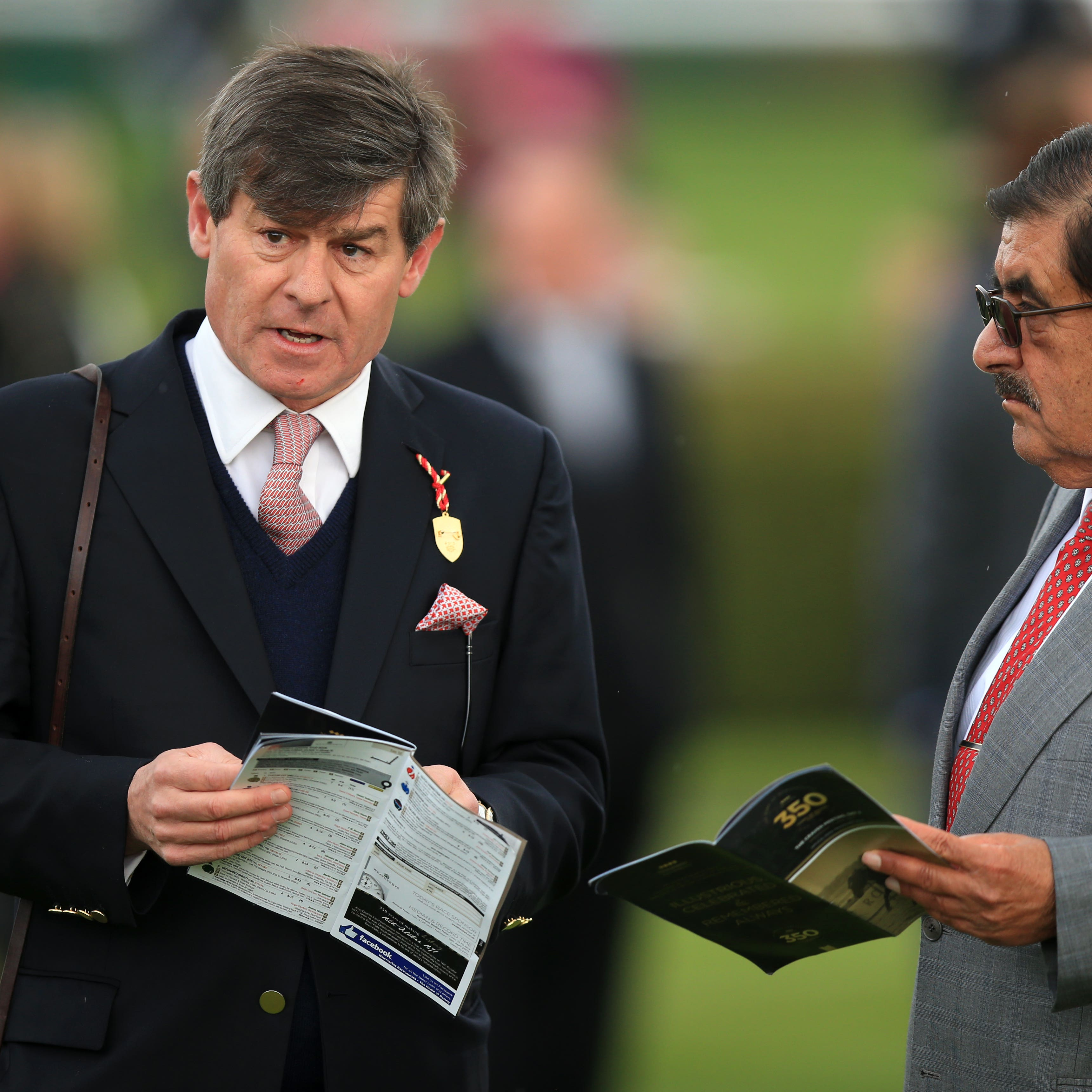 Simon Crisford (left) with owner Sheikh Hamdan