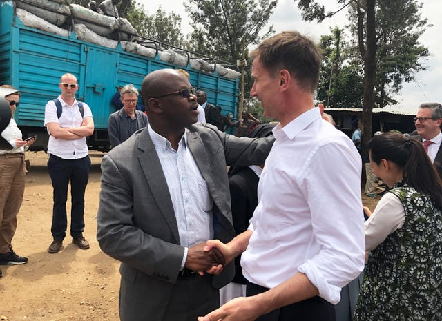 Jeremy Hunt in western Nairobi