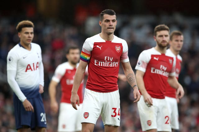 Xhaka lost the Arsenal captaincy after an unsavoury incident with supporters earlier in the season.