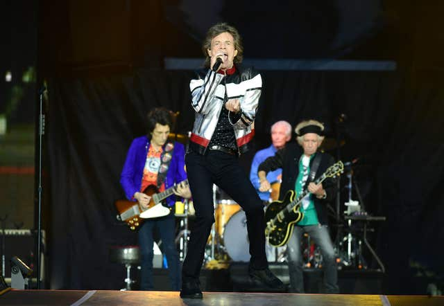 The Rolling Stones performing at the London Stadium (Ian West/PA)