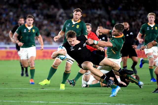 New Zealand and South Africa topped the bill on Saturday and it was the All Blacks who claimed victory in Yokohama, winning 23-13, with George Bridge (pictured) among the try scorers