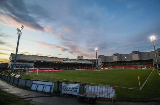 Partick Thistle's Firhill Stadium in Glasgow