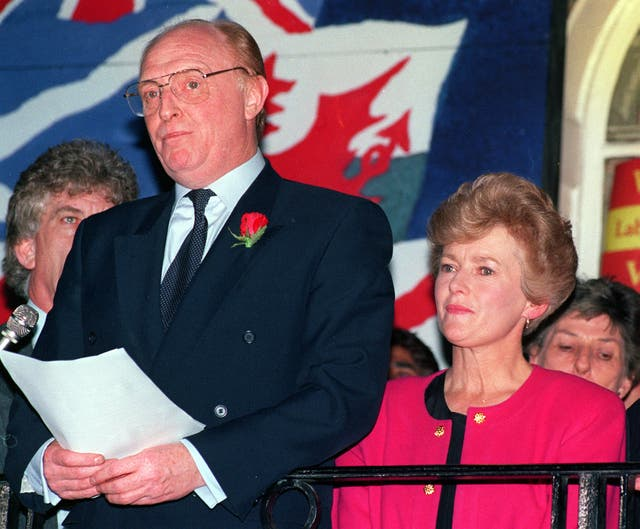 Neil Kinnock resigns as Labour leader after failing to win the election in 1992 (Fiona Hanson/PA Archive)