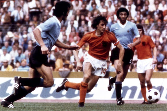 Cruyff starred at the 1974 World Cup as Holland captain