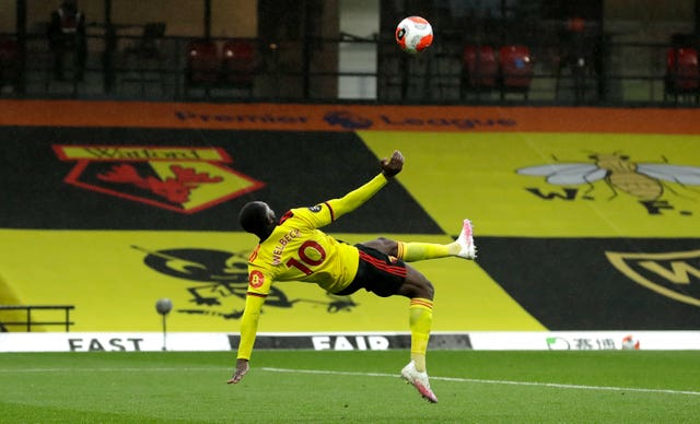 Welbeck's first Watford goal came in spectacular fashion