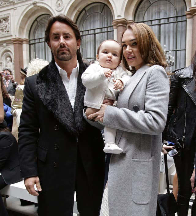 Tamara Ecclestone with husband Jay Rutland and daughter Sophia
