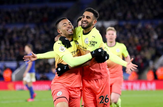 Gabriel Jesus (left) and Riyad Mahrez